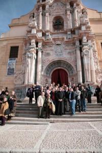 Caballeros y Damas de San Juan de Dios peregrinaron al Santuario de la Cruz de Caravaca antes de finalizar el Año Jubilar 2010